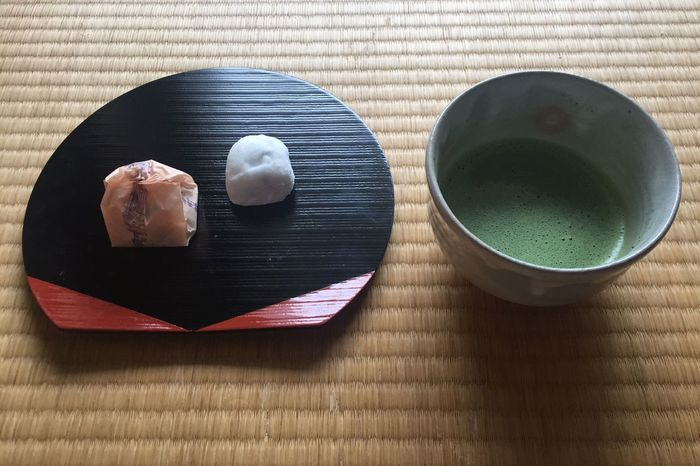 Japanese tea ceremony sweets peace of mind green healthy Freshness Table Indoors  Close-up Serving Size Modern Non-alcoholic Beverage Ready-to-eat No People