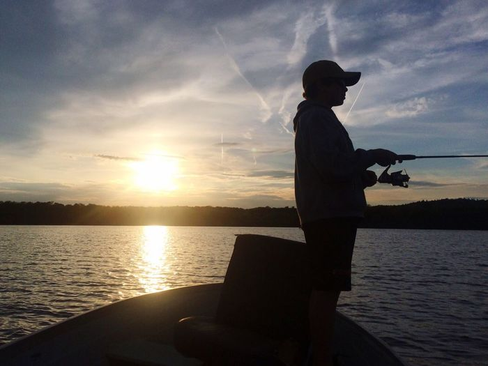 Patience Sunset Water Sky Cloud - Sky Scenics Lifestyles Fishing Outdoors Men