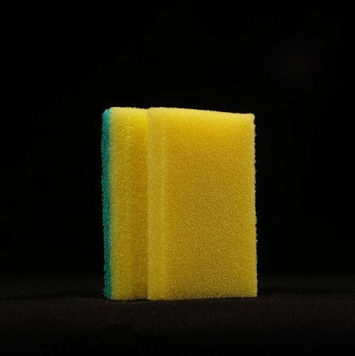 Black Background Cleaning Dishwashing Sponge Foam No People Object Rubber Sponge Studio Shot Washing Yellow Fujifilm Xm1