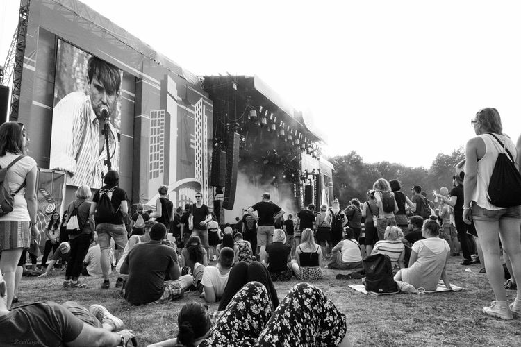 Berlin Blackandwhite Bühne Concert Day Lolapalloozza Menschen Outdoors People Tocotronic