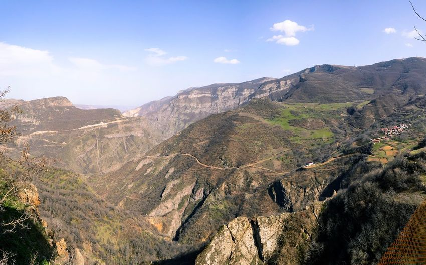 Tatev Armenia Mountain Nature Landscape Beauty In Nature Tranquility Tranquil Scene Scenics Day Outdoors Mountain Range Sky Growth No People Tree