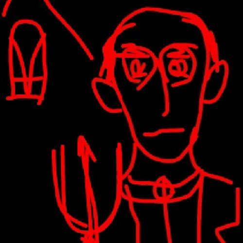 American Gothic. Fragment. Imitation Grant Volson Wood / Sketch Art Pseudoart American Gothic Wood