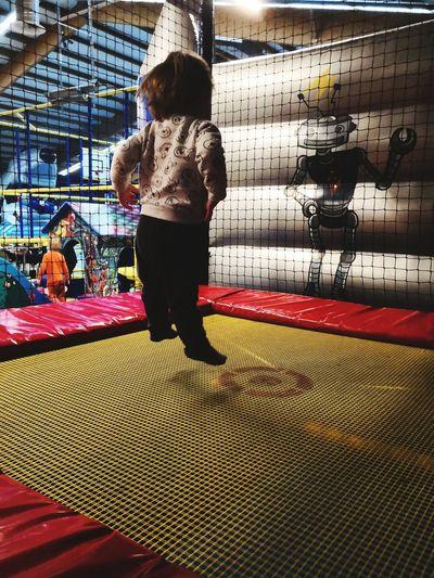 Trampoline Jump Son Children Ice Rink Full Length Sport Child