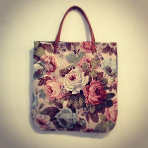Floral / denim tote Mincdesign