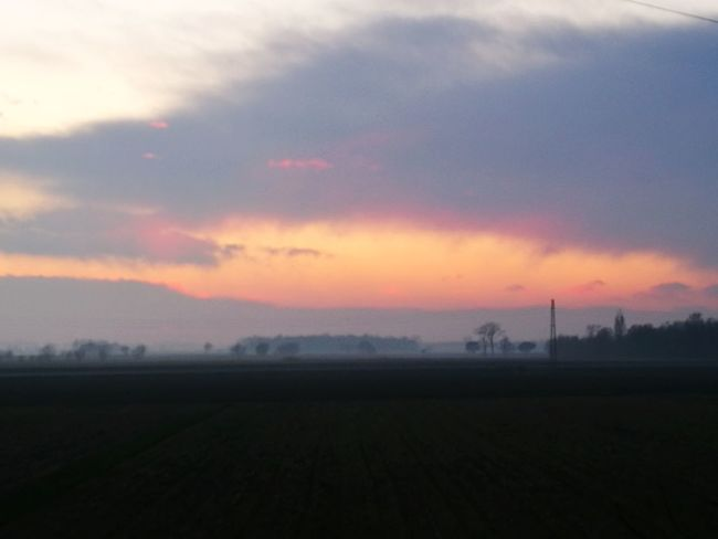 sunset Fog Sunset Landscape No People Cloud - Sky Rural Scene Agriculture Outdoors Dawn Scenics