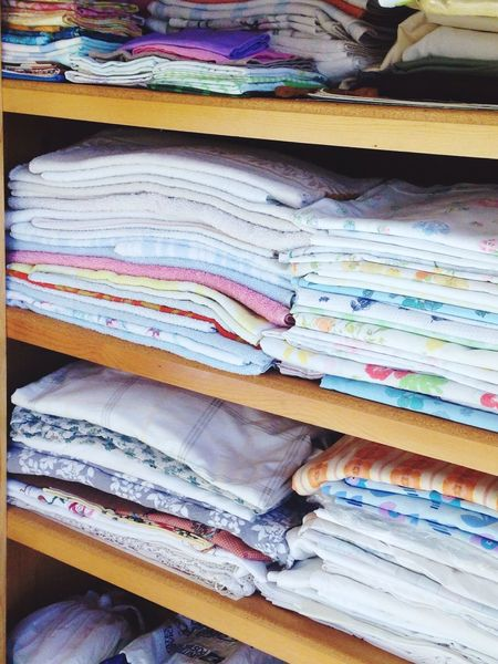 Everything In Its Place closeup shoot of folded linen ,stacked high full of color and great assortment . Organized Neatly👍😝 The Week On EyeEm