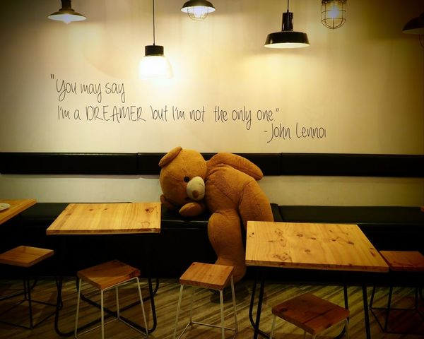dreaming in Bangkok ASIA Bangkok Lennon Thailand Beauty In Nature Cafe Nostalgia Siam Square Teddy Bear