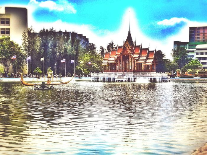 Ramkhamhaeng University Bangkok, Thailand From My Point Of View Decorations Interior Views Interior Design Editoftheday Clouds And Sky Skylovers Edited Editorialphotography EyeEm Gallery Thailand Photos Eyeemthailand Bangkok Thailand Reflections In The Water Architecture Architecture_collection University Ramkhamheang University