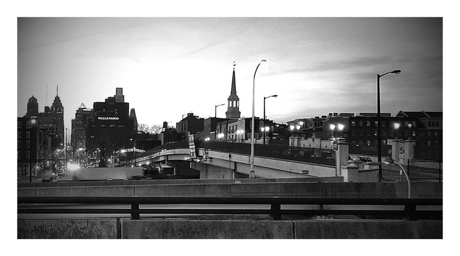 City street against sky