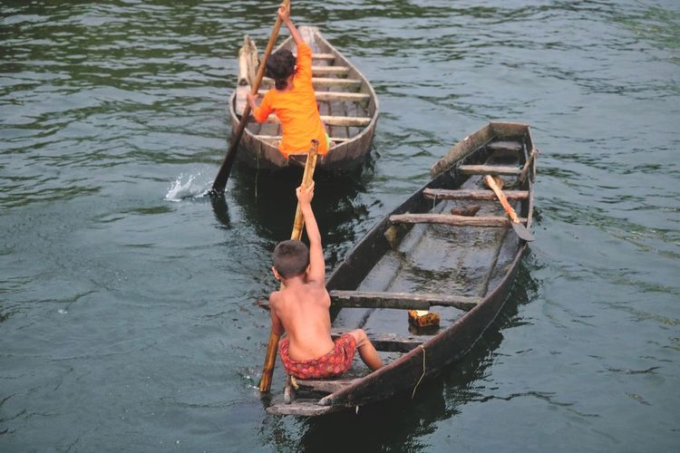 Nautical Vessel Water Adult One Person People River Men Oar Transportation Real People Rowing Floating On Water Occupation Outdoors Adults Only Vacations Day One Man Only Only Men Human Body Part Connected By Travel This Is Strength Fisherman Paddling Fishing Boat My Best Photo