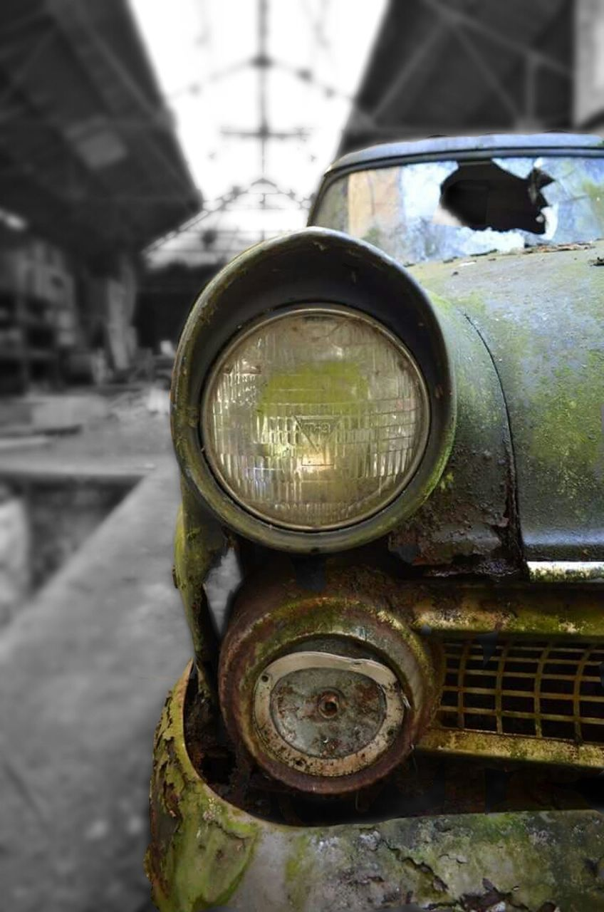 abandoned, obsolete, rusty, damaged, transportation, run-down, mode of transport, weathered, day, no people, outdoors, close-up, rotting