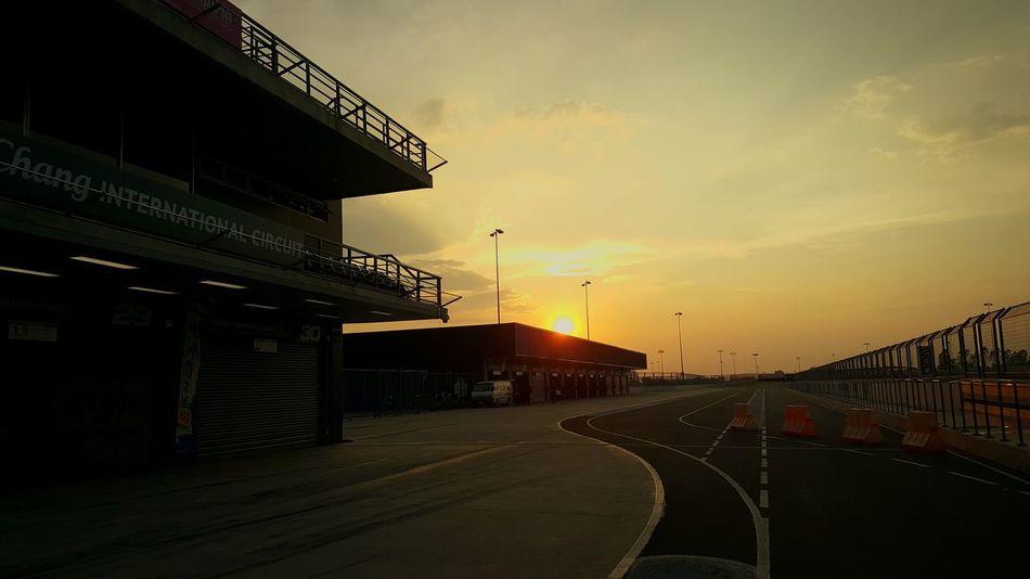 Sunset No People Sky Buriram  Motorsport Racing Circuit Chang International Circuit🇹🇭 Thailand🇹🇭