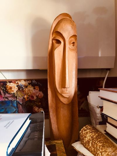 White Witch Sculpture by John Middleditch Abstract Original Art Wood - Material Sculpture Carving Indoors  No People Close-up