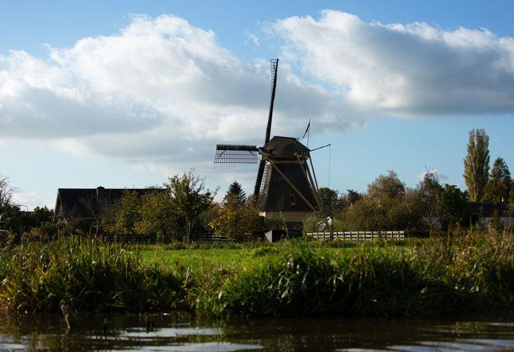 Mill, Windmill, Landscape, Clouds Sunlight