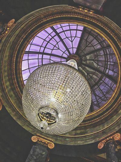 Forgotten photo, inside Gringotts Bank... Archway Architecture Arch Oculus Skylight April April 2016 Springtime Gringotts Gringottsbank Diagon Alley Universal Studios  Florida Interior Interior Views Inside Indoors  Theme Park Marble Chandelier Looking Up