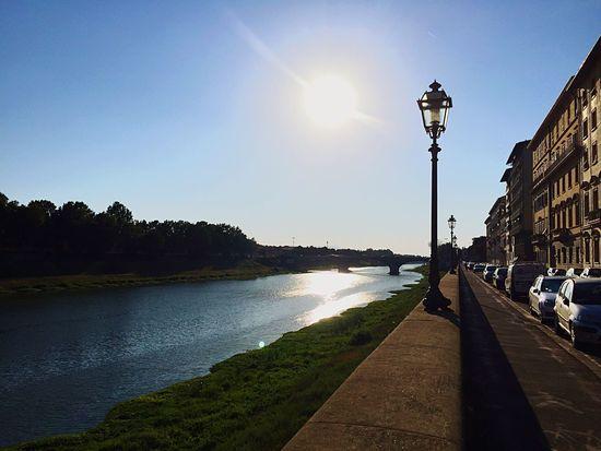 Florence Lungarno Riverside River Mycity The City Light
