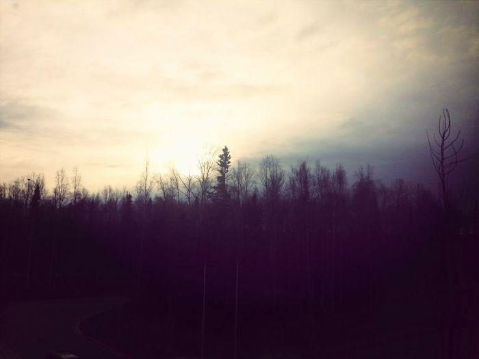 During class sun setting