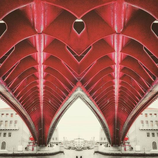 Venice... Same pic... Just play with editing... Toomuch Editing Architecturelovers Archistar Geometry Geometric Mirroring Urbandistortions Distortion Mirror Architecture Bridge Venice Venezia Red Water Modify Play Sorry Calatrava Archistar Archilovers Mobilephotography Fake Geometric steel urbanphotography streetphotography architecturephotography ponte water