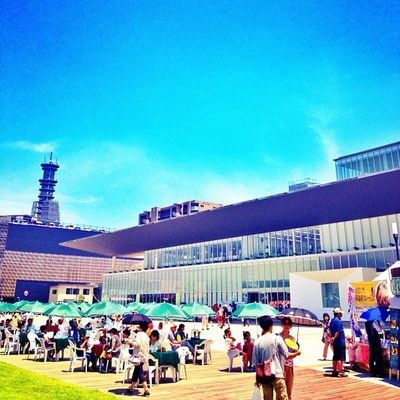 駅前summer People Summer Festival Sky Blue Vacation Japan Photooftheday Japanese  Oita Webstagram