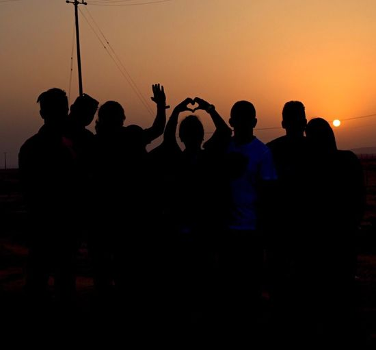 People And Places Silhouette Sunset Friendship Love ♥ Desert Sunset Saudi Arabia LoRIMi Music Ministry Music Team
