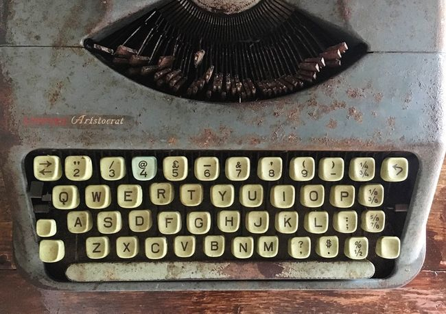 Old Typewriter Classic No People Typewriter Number Indoors  Communication Still Life Table Capital Letter Close-up Technology Alphabet Antique Directly Above High Angle View Letter Metal