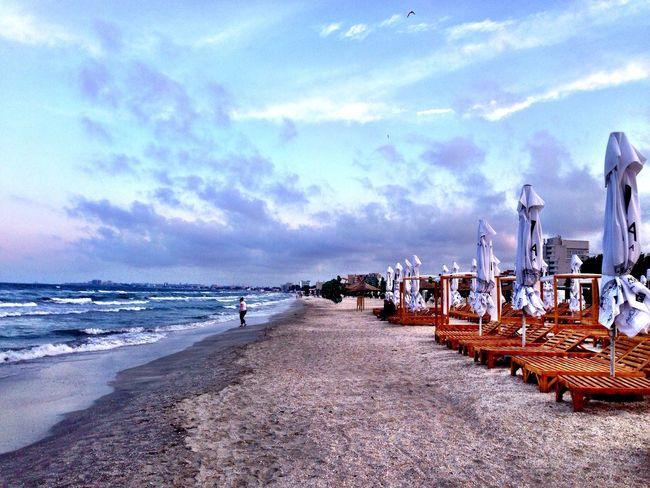 Mamaia Beach In The Winter Beach Closed Blacksea