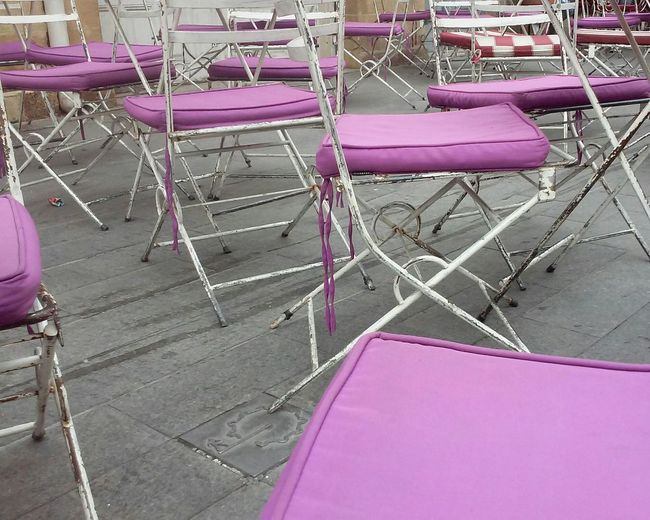 Vintage Chairs Iron Chair Colour Purple Many Sits Sits Chair Coffee Shop