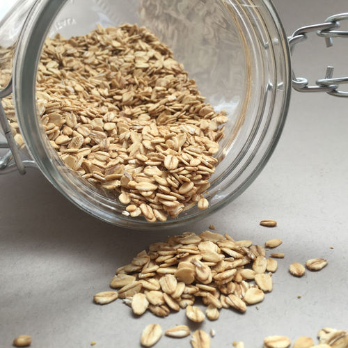 Close-Up Of Oat Flakes