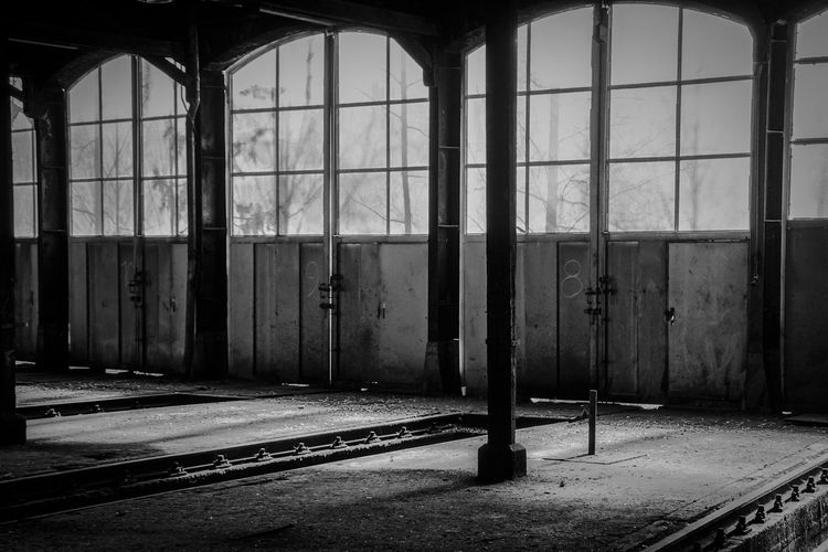 forgotten ... Abandoned Architecture Bad Condition Brandenburg Building Built Structure Closed Damaged The Secret Spaces Door Forgotten House Indoors  Monochrome Narrow Obsolete Old Rangierbahnhof Switching Switchyard Urbex Wall Wall - Building Feature Window Yard