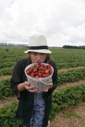 Strawberry Picking Familybonding BBucketOfStrawberriesyummy nNofilter