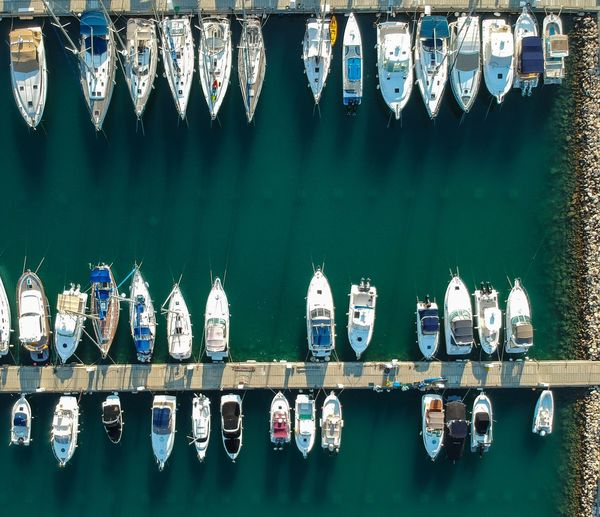 Marina from the sky Bird Eyes View Limassol Boat Marina Sea Beach Cyprus Droneshot Drone Photography Dronephotography Yachting Yachts Yacht Drone  Port No People Reflection Side By Side In A Row Nautical Vessel Nature Outdoors Transportation First Eyeem Photo