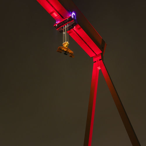 Close-up Electricity  Illuminated Lighting Equipment Low Angle View No People Red Technology