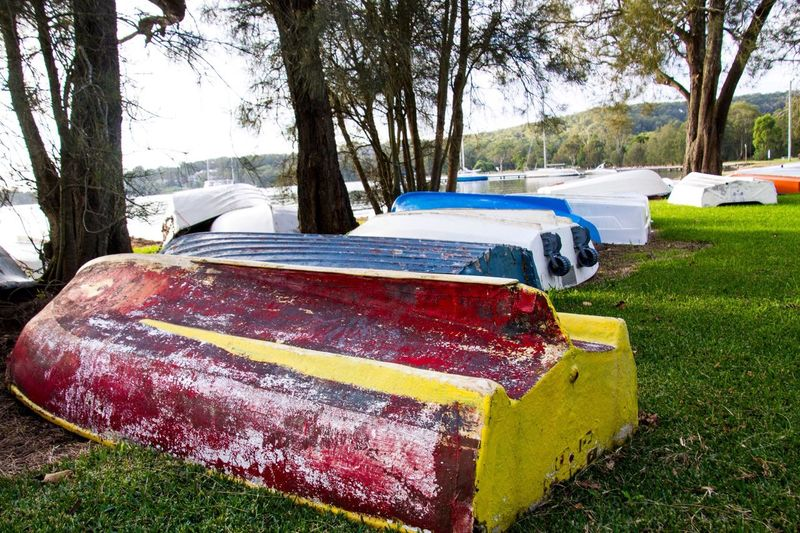 Boats Colourful Rowboat