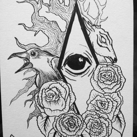 debating adding watercolors to this yes or no help Artstagram