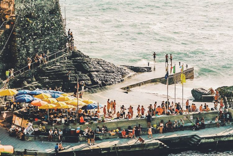 Vernazza Italy Atmosphere Seaside Summer Mood