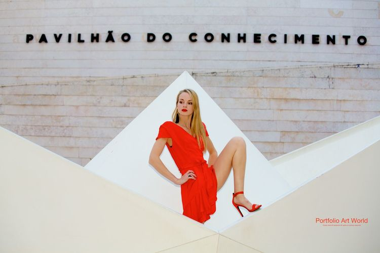 Photoshoot Portugal Friends ❤ Lady In Red ❤ Modeling Streetshoot Topmodel 💁🎀