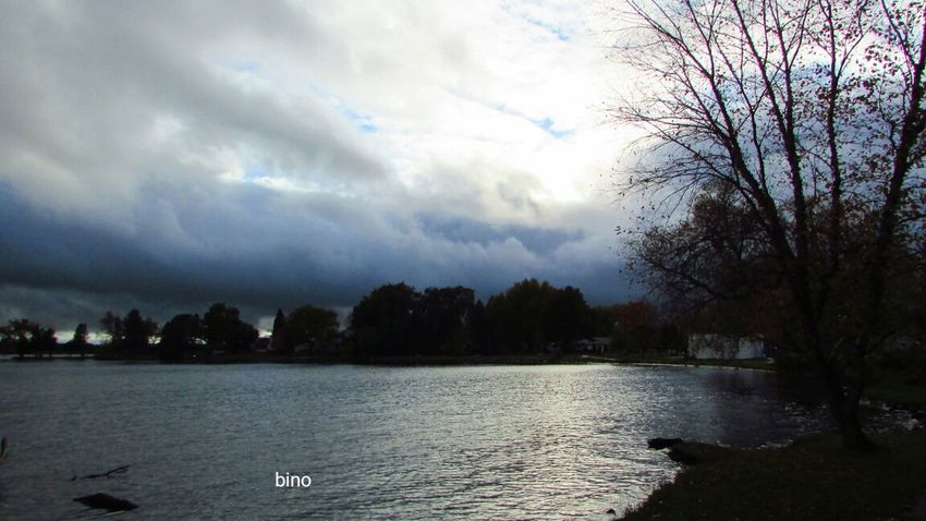 Out Walking Cloud - Sky Storm Approaching Chilly Weather Cool_capture_ Ripples In The Water Lake Cadillac Pure Michigan