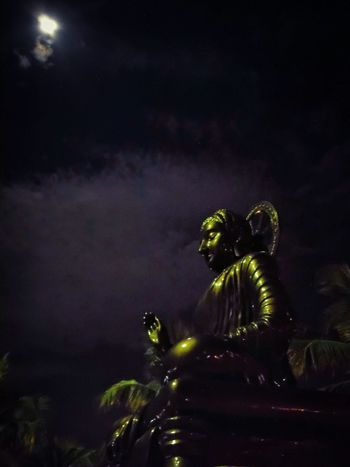Moonlight Buddha Buddha Statue Night Night Photography Moonlit Soft Peaceful Tranquility Explore Asia Travel Thailand Thailand Thai Culture Illuminated Light In The Darkness Glow Buddhism