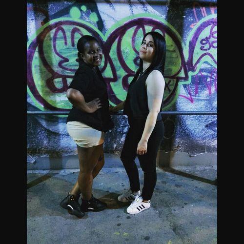 Feelingnice 2016 May Friendship Lowereastside Beautifulweather Funnight Quick Pic Photo Ineedatan My City Newyorkcity NYC Manhattan Pic Flick  Eyem Hello Graffiti Art