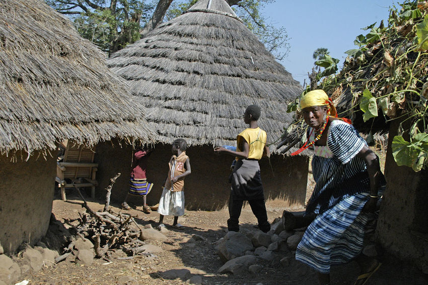 Ibel & Iwol traditional villages Senegal Traditional Culture Adult African Village Bassari Bassari Country Day Iwol People Real People Senegal Town Traditional Village Working