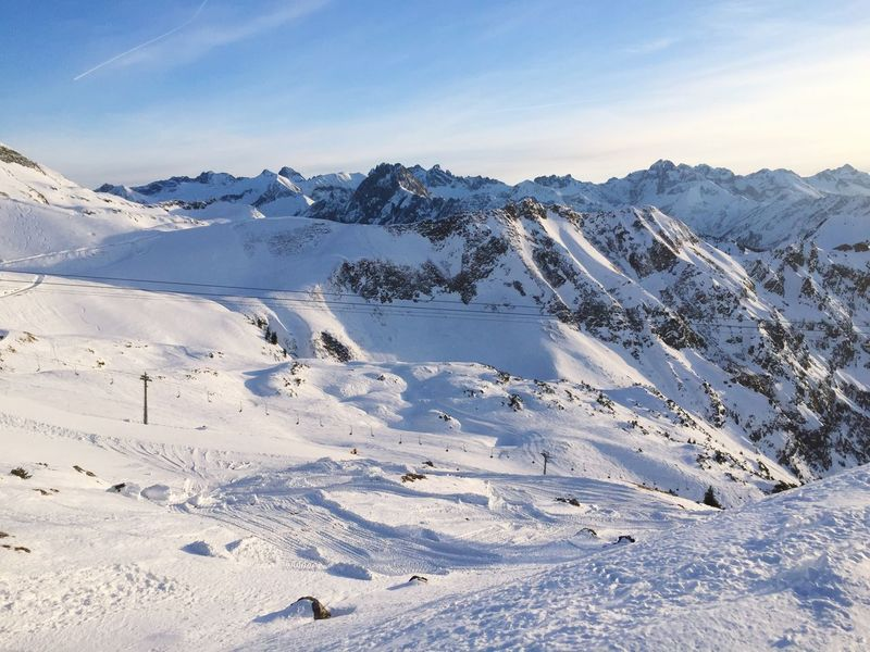 Nebelhorn Allgäu Allgäuer Alpen Winter Snow Cold Temperature Mountain Alps Tranquility Sky Slope Winter Sports Clear Sky