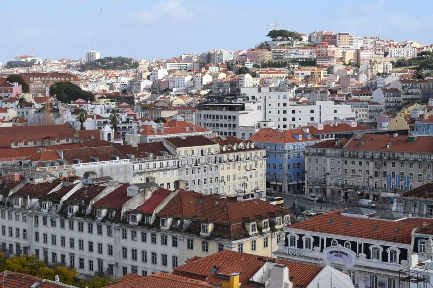 Lisbon Lisboa Portugal City Cityscape Travel Photography Travel Destinations Traveling Travel Sky Residential Building Community Architecture Building Exterior Built Structure Rooftop Rooftops