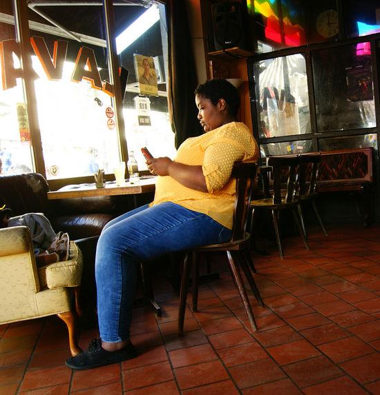 #freestyle Full Length Sitting Men Working Technology Musician Chair Cafe Portrait Artist