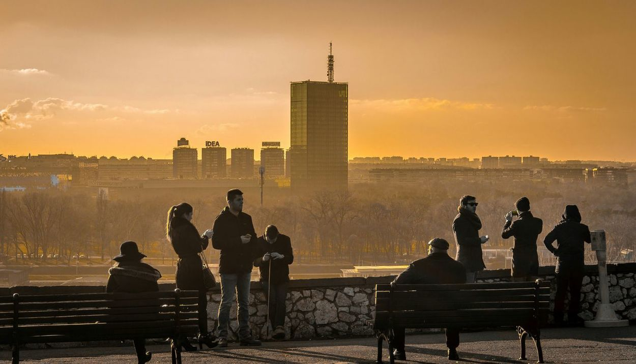 City View  Belgrade People Peoplephotography Cityscapes Sunnset