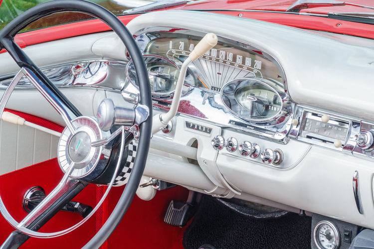 Close-up of vintage car
