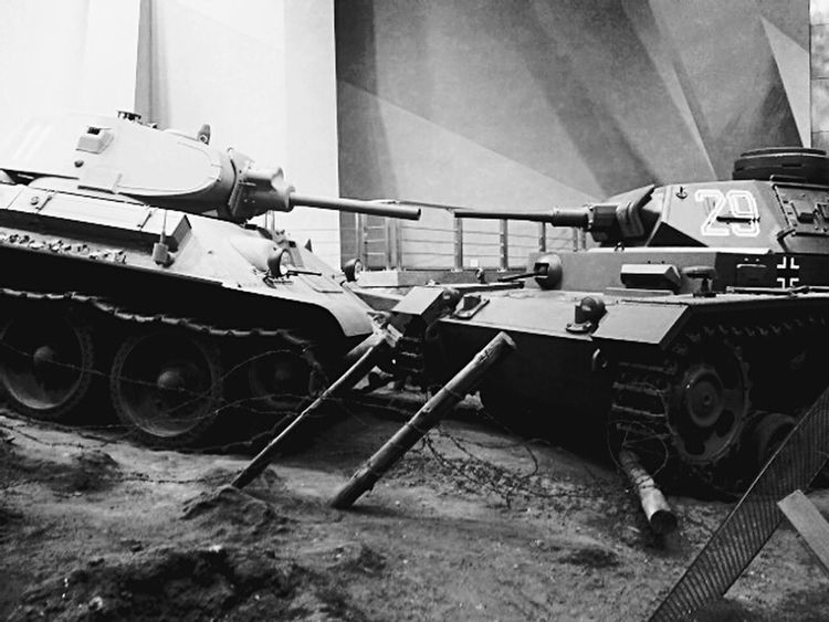 Taking Photos Museum of The Great Patriotic War NAZI Tank and Ussr Tank Belarus Minsk