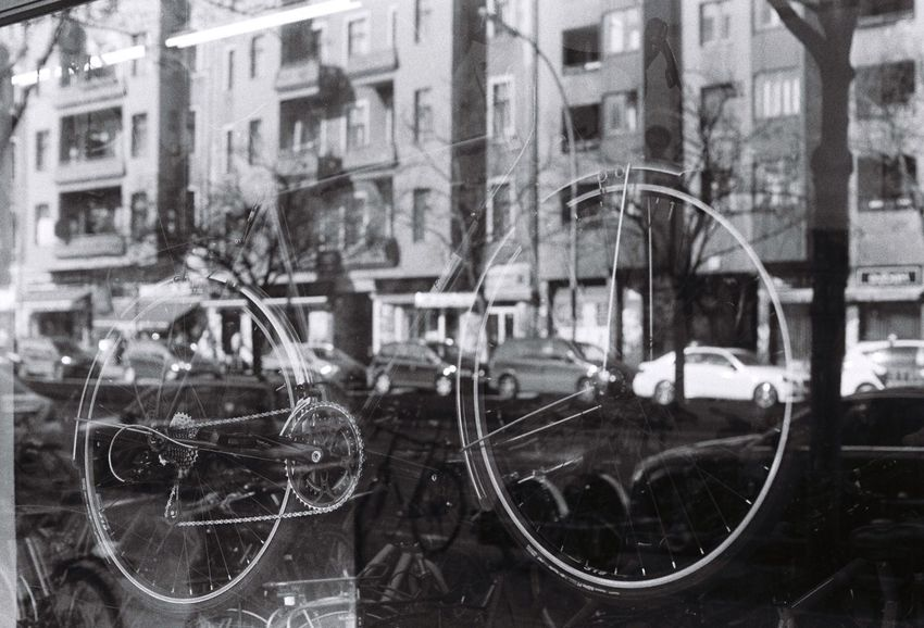 Window Reflections Bikes Over Cars CyclingUnites Bikes Of Berlin Analogue Moments Pentax Me Eye ❤️ Foto Kotti 35mm Film City