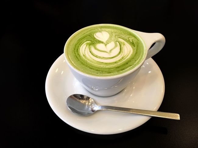 Matcha latte Black Background Close-up Coffee Cup Cup Drink Food And Drink Froth Art Frothy Frothy Drink Green Green Tea Green Tea Latte Healthy Latte Latte Art Latteart Matcha Matcha Green Tea Matcha Green Tea Latte Matcha Latte Milk No People Refreshment
