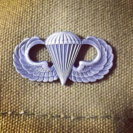 Airborne Wing Parachute Paratroopers Silhouette Silver  Winter