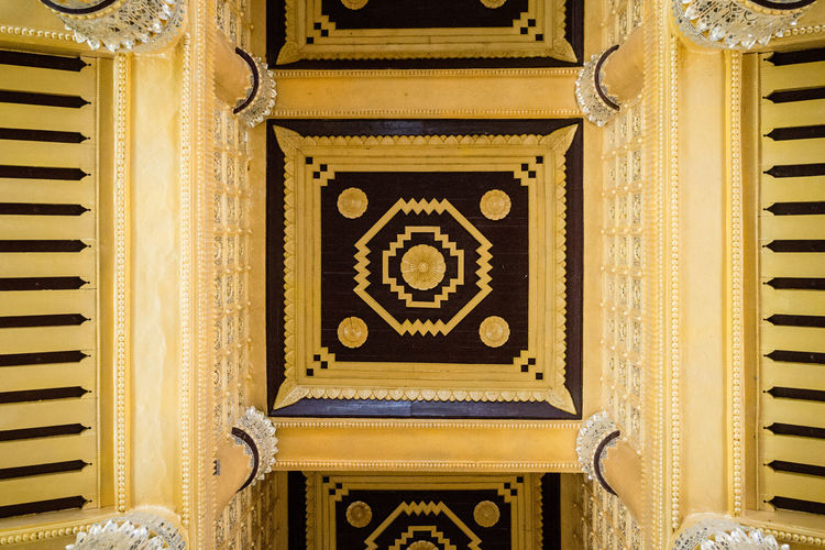 Relic of Luxurious Architecture Art And Craft Bago Burma Geometry Kanbawzathadi Golden Palace Myanmar Palace Pattern Travel Wall - Building Feature Paint The Town Yellow